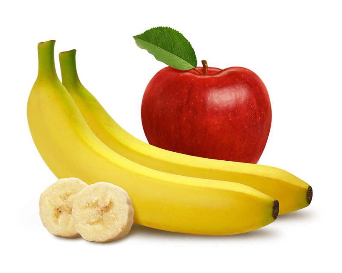 Resultado de imagen de manzana y platano