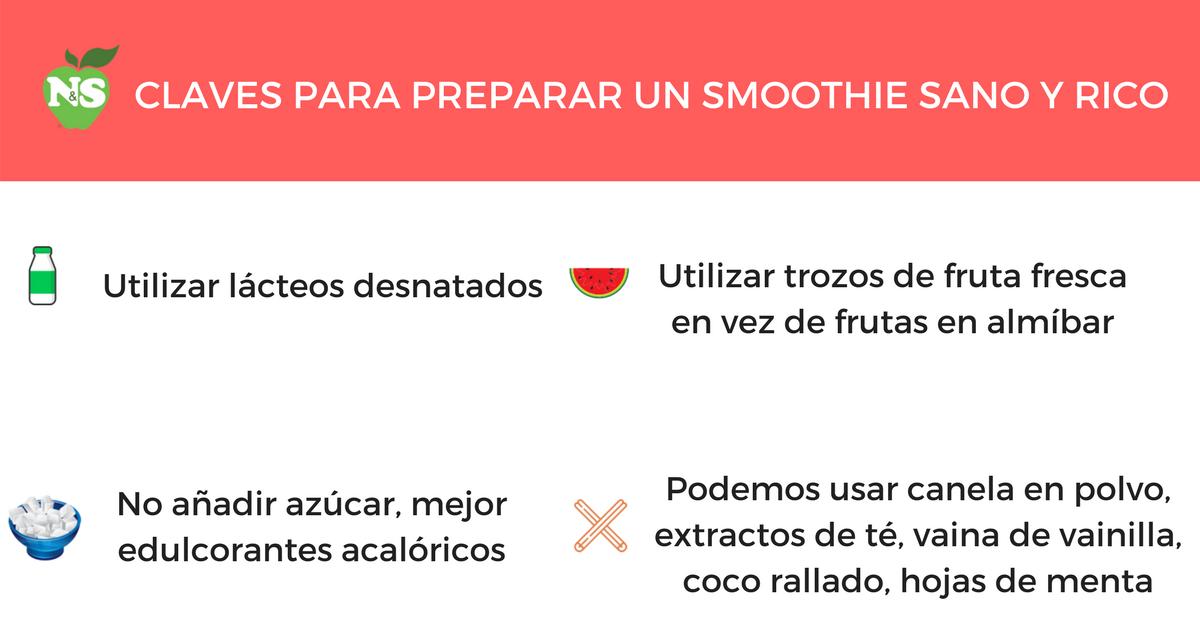 claves para preparar un smoothie sano y rico