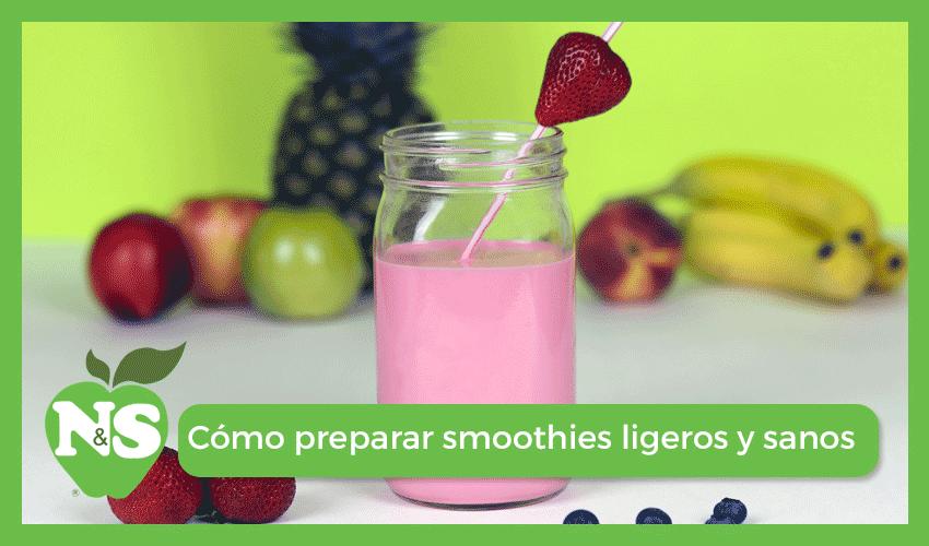 cómo preparar smoothies sanos