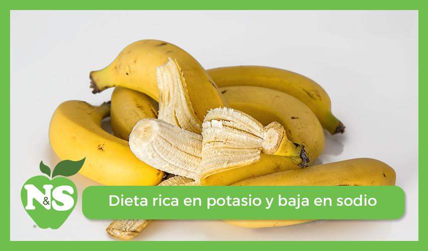 dieta rica en potasio